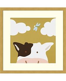 Amanti Art Peek-A-Boo III - Cow Framed Art Print