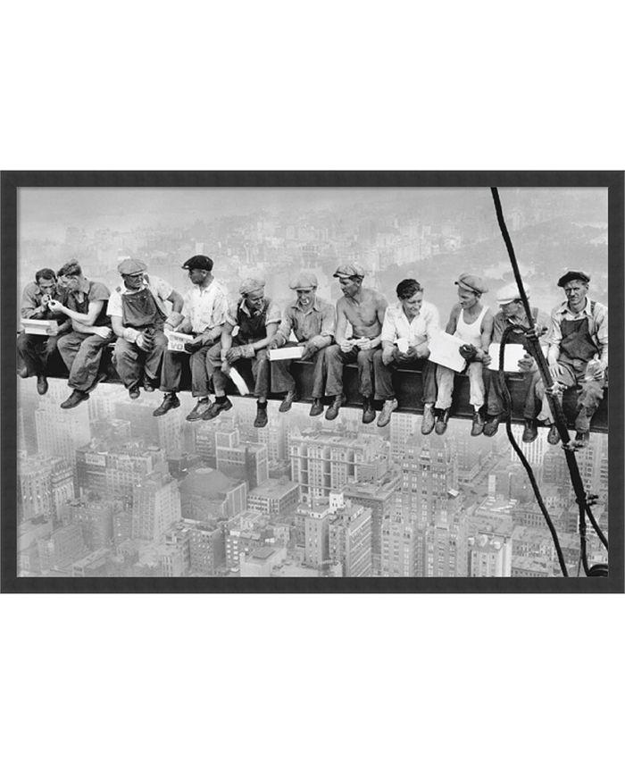 Amanti Art - Lunch on a Skyscraper, 1932 37x25 Framed Art Print