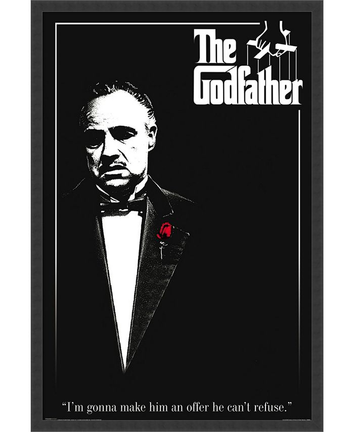 Amanti Art - Godfather - Red Rose- 25x37 Framed Art Print