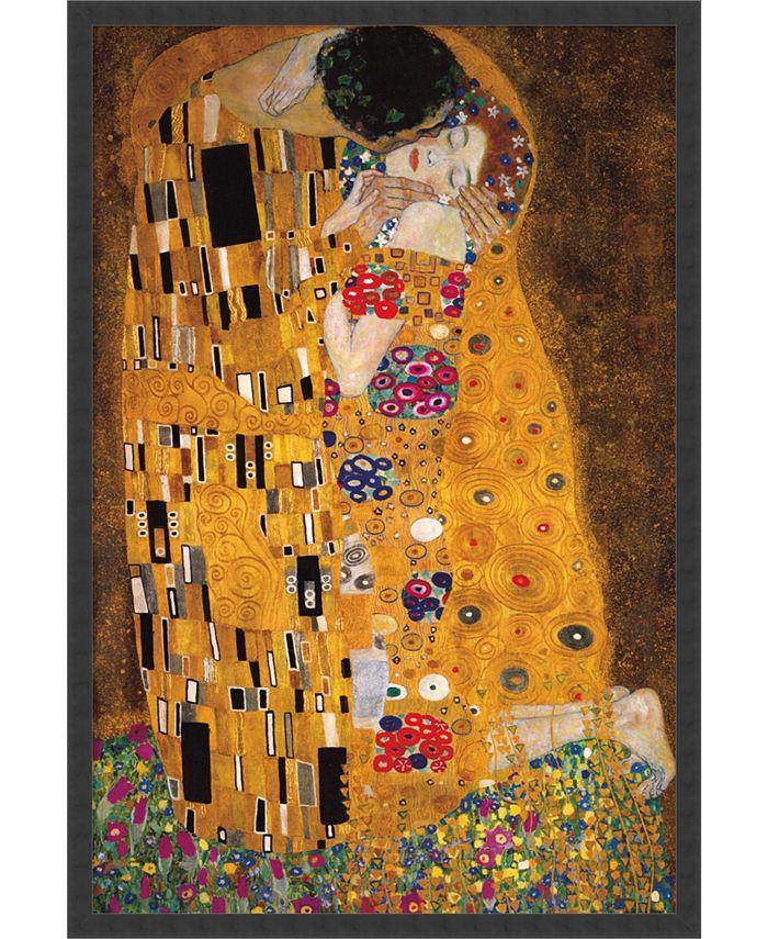 Amanti Art - The Kiss (Le Baiser / Il Baccio), 1907 25x37 Framed Art Print