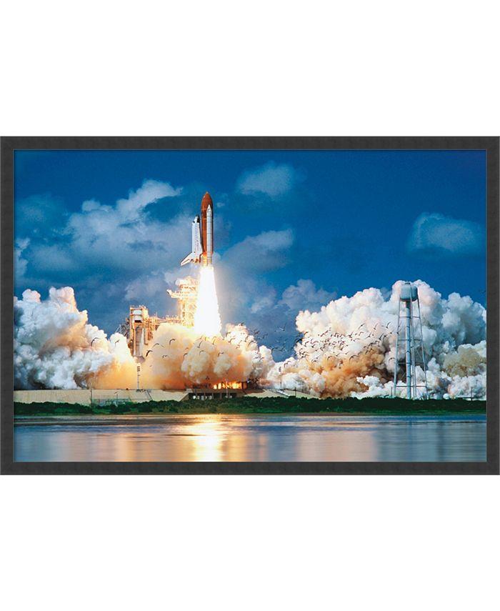 Amanti Art - Space Shuttle Take-Off- 37x25 Framed Art Print