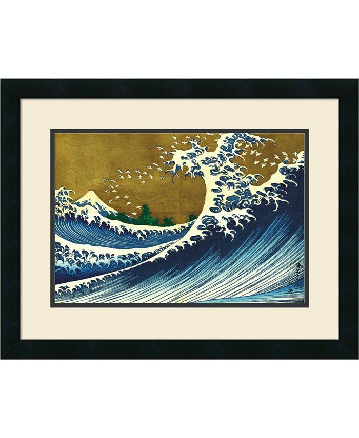 Amanti Art - Big Wave (from 100 views of Mt. Fuji) 25x19 Framed Art Print
