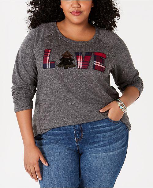 fcf001f44d3 ... Style   Co Plus Size LOVE Graphic Sweatshirt