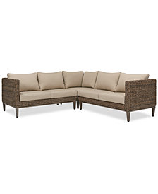 La Palma Outdoor 3-Pc. Sectional Seating Set (1 Right-Arm Loveseat Sectional, 1 Corner Sectional And 1 Left-Arm Loveseat Sectional), Created For Macy's