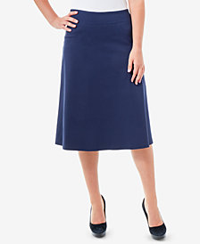 NY Collection Pull-On Skirt