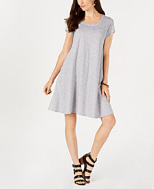 Style & Co Striped Cotton Swing Dress, Created for Macy's