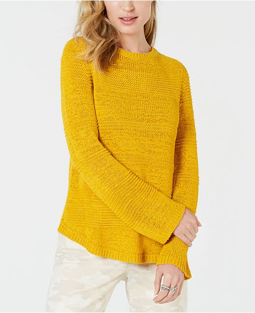 Mixed-Stitch Crew-Neck Sweater, Created for Macy's
