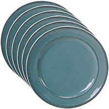 Certified International Orbit Solid Color - Teal 6-Pc. Salad Plate
