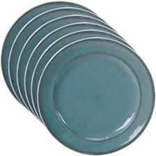 Certified International Orbit Solid Color - Teal 6-Pc. Salad Plate