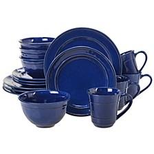 Orbit Solid Color - Cobalt Blue 16-Pc. Dinnerware Set