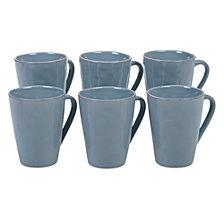 Certified International Harmony Solid Color - Teal 6-Pc. Mug 15oz Set
