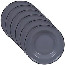Certified International Enamelware - Grey 6-Pc. Salad Plate