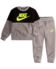 Nike Little Boys 2-Pc. Air Colorblocked Fleece Top & Jogger Pants Set