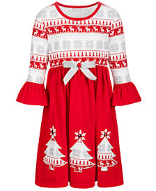 Bonnie Jean Little Girls Fair Isle-Print Dress