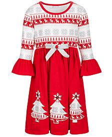 Bonnie Jean Little Girls Fair Isle-Print Dress