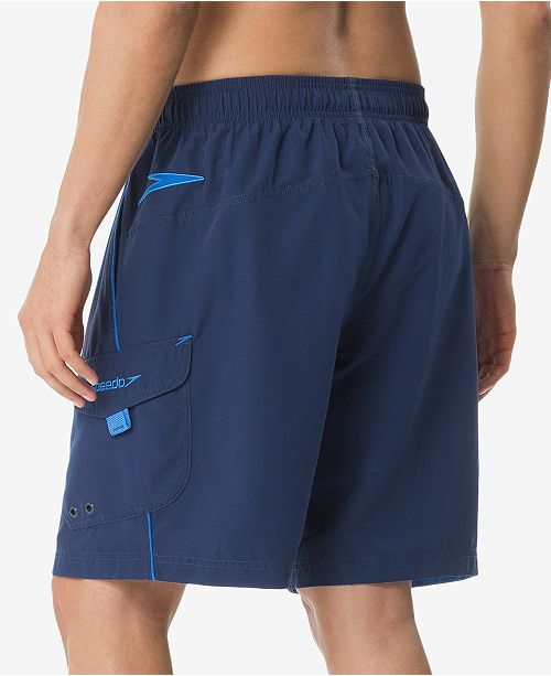 ed98512d27 Speedo Men's Performance Marina 9'' Swim Trunks & Reviews - Swimwear ...