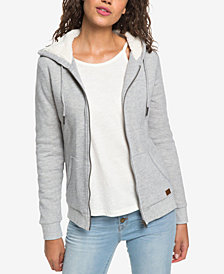 Roxy Juniors' Fleece-Lined Hooded Jacket