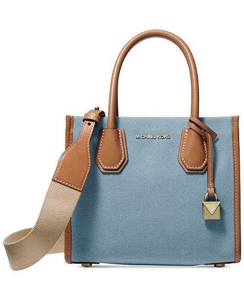 406d6f6d087 Michael Kors Mercer Canvas Crossbody - Handbags   Accessories - Macy s