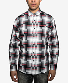 Sean John Men's Regular-Fit Broken Plaid Shirt