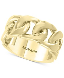 EFFY® Men's Chain Link Ring in 14k Gold-Plated Sterling Silver