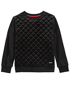 Sean John Big Boys Quilted Velour Sweater