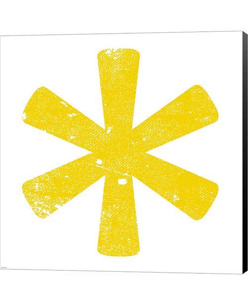 Metaverse Yellow Asterisk by Veruca Salt Canvas Art