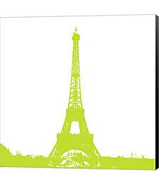 Lime Eiffel Tower by Veruca Salt Canvas Art