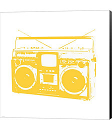 Yellow Boom Box by Veruca Salt Canvas Art
