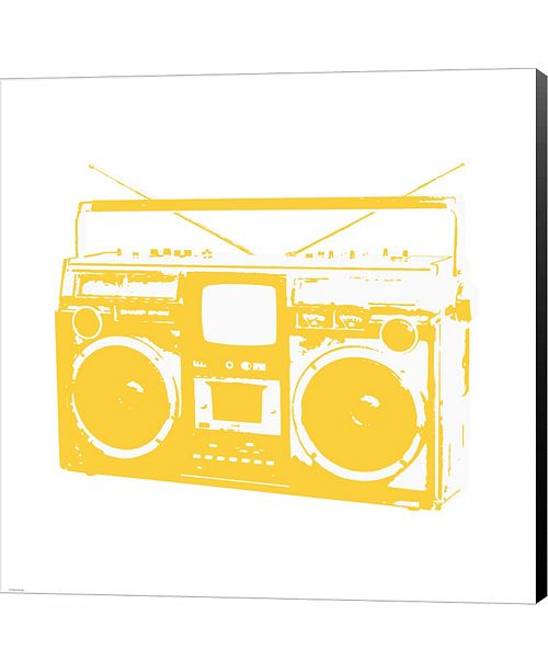 Metaverse Yellow Boom Box by Veruca Salt Canvas Art