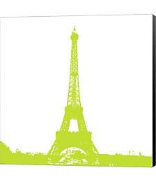 Lime Eiffel Tower by Veruca Salt Canvas Art