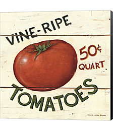 Vine Ripe Tomatoes by David Carter Brown Canvas Art