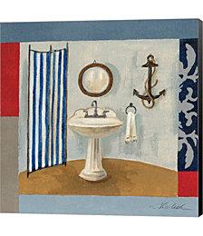 Nautical Bath I by Silvia Vassileva Canvas Art