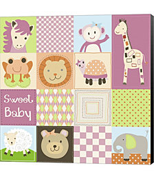 Baby Girl Animal Quilt by Jennifer Nilsson Canvas Art
