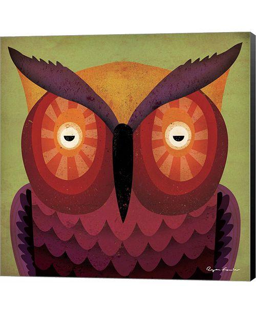 Metaverse Owl WOW by Ryan Fowler Canvas Art