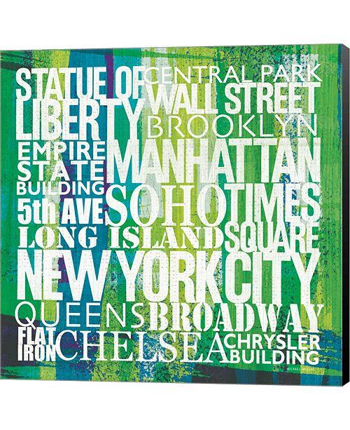 Metaverse New York City Life Patterns I by Michael Mullan Canvas Art