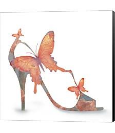 Butterfly Shoe Swirl by Jill Meyer Canvas Art