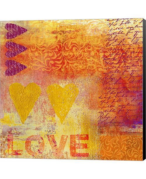 Metaverse Love Stamps by Andrea Haase Canvas Art