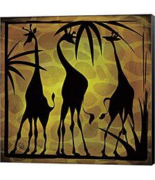 Safari Silhouette III by Gena Rivas-Velazquez Canvas Art