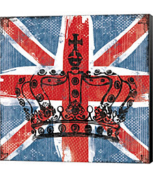 Union Jack Crown 2 by Louise Carey Canvas Art
