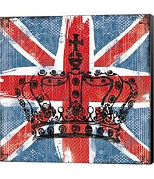 Union Jack Crown 2 by Louise Carey Canvas Art