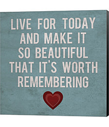 Live for Today 4 by Louise Carey Canvas Art