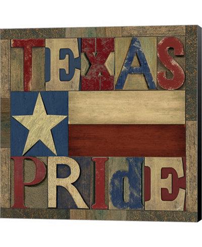 Texas Printer Block II by Tara Reed Canvas Art