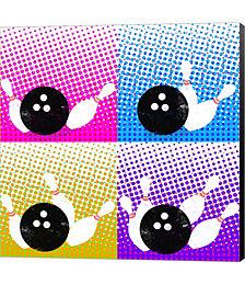 Bowling Pop by Mark Ashkenazi Canvas Art