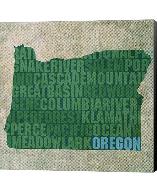 Metaverse Oregon State Words by David Bowman Canvas Art