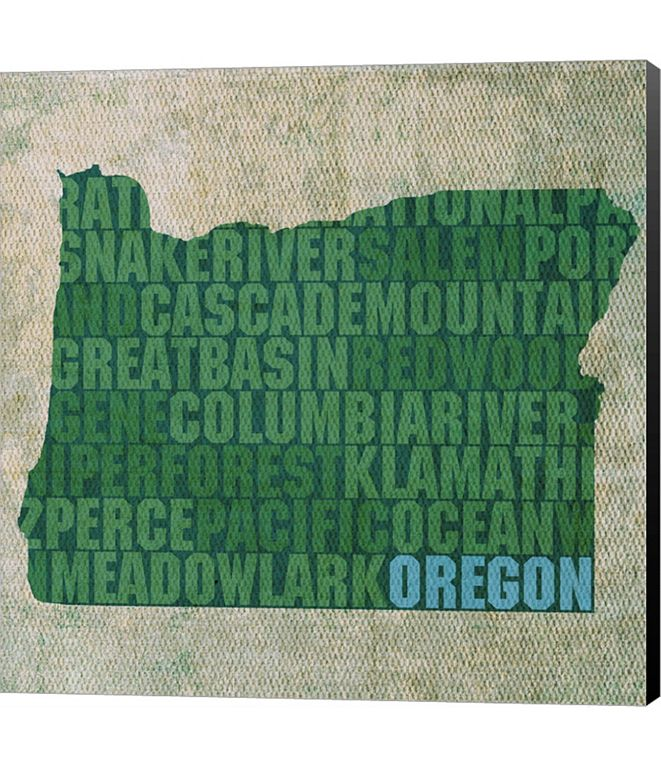 Metaverse Oregon State Words by David Bowman Canvas Art