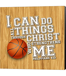 I Can Do All Sports - Basketball by Scott Orr Canvas Art