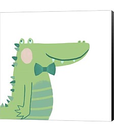 Alvin the Alligator by Color Me Happy Canvas Art