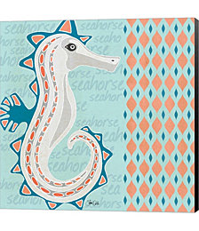 Nautical Seahorse by Shanni Welsh Canvas Art