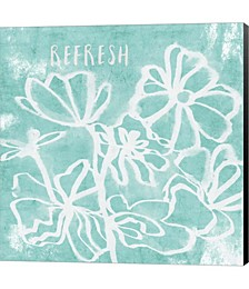 Refresh Mint by Linda Woods Canvas Art