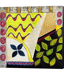 Flower Deco Green I by Annemette Hylleborg Canvas Art